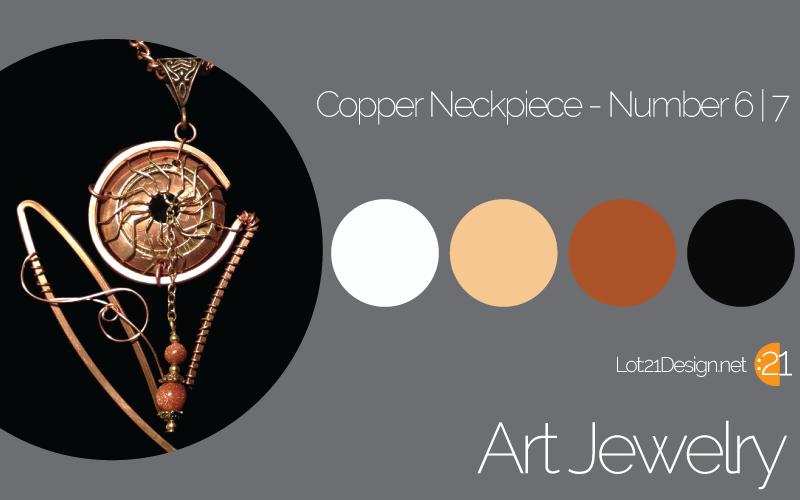 Art Jewelry Copper Neckpiece - Nonpareil, Ltd.
