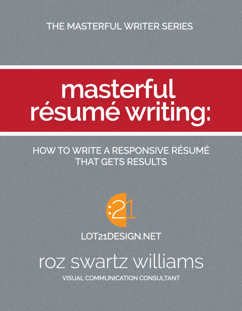 Masterful Resume Writing Book Cover