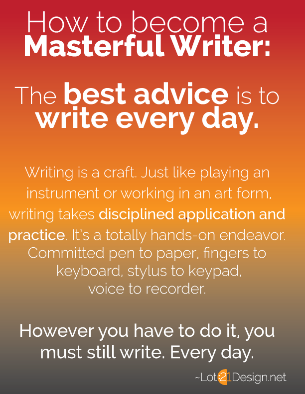 The Masterful Writer Series - Infographic 1 - Become a Masterful Writer