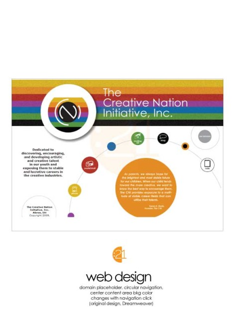 Creative Nation Iniative - Flat Design Sample