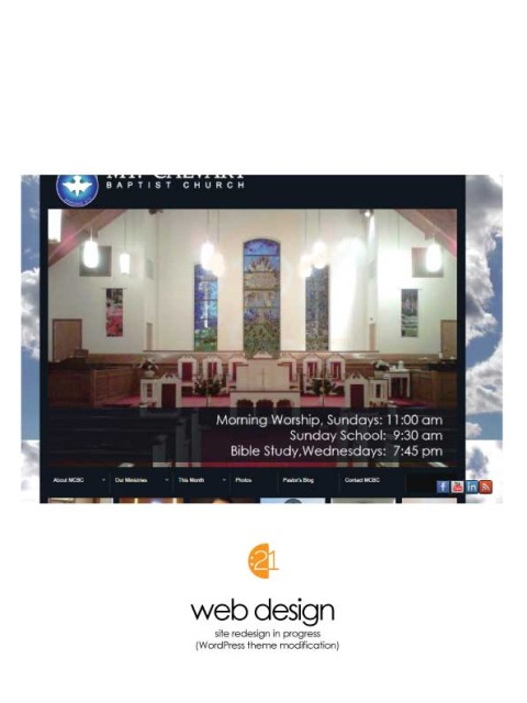 Mt. Calvary Baptist Church - Website Sample