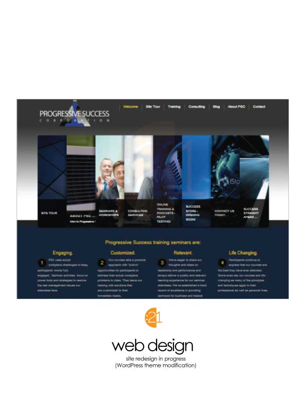 Progressive Success Corp - WordPress Web Design Sample